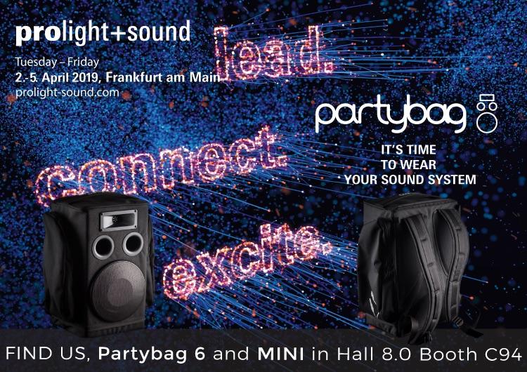 Partybag @ Prolight & Sound 2019 – Frankfurt